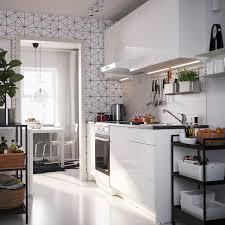 knoxhult küche hochglanz weiß 220x61x220 cm