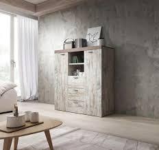 highboard wohnzimmer antikweiß gewischt eiche dunkel sägerau matt neu 23188059 ceres webshop