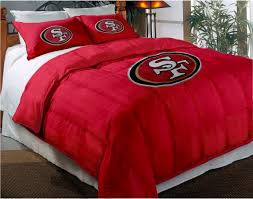 San Francisco 49ers NFL Twin Chenille Embroidered Comforter Set With 2 Shams 64 X 86