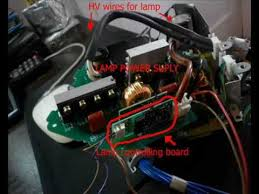 Sony Kdf E50a10 Lamp Ballast by Fooling Lcd Projector Hack Install Any Lightbulb Diy Youtube