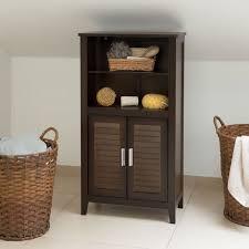 badezimmerschrank dunkelbraun lamell badschrank aus bambus telefonschrank hbt 92 x 50 x 25 5 cm