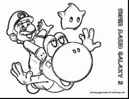 Good Super Mario Galaxy Coloring Pages With Kart And
