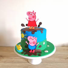peppa pig cake for wee 2 year rubylicious cakes nz