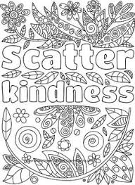 Scatter Kindness Adult Coloring Page