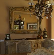 Buffet Mirrors Dining Room With