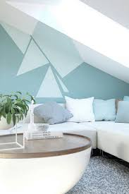 wand streichen muster ideen wohnzimmer dachschraege