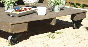 Maximize Your Outdoor Space With A Pallet Coffee Table Wheels