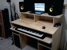 Home Music Studio Pictures Desk Workstation Recording Wood Simple Design