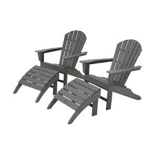 Navy Blue Adirondack Chairs Plastic by Polywood The Home Depot