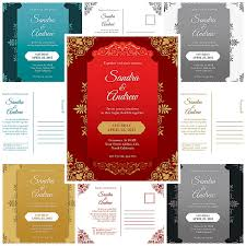 Wedding Invitation Template Design Marriage Cards Format In