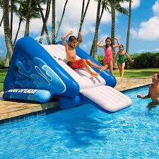 Inflatable Pool Slides For Inground Pools Home Furniture And Decor