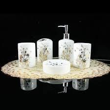 hochwertige badezimmer set blattgold keramik fünf stück bad accessoires bad lieferungen