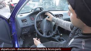 how to change replace install column light wiper switch honda