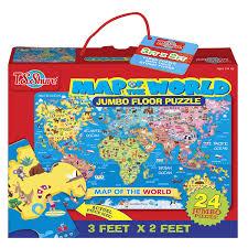 amazon com t s shure map of the world jumbo floor puzzle toys