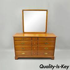 Kent Coffey Blonde Dresser by Mirror Original Antique Dressers U0026 Vanities 1950 Now Ebay