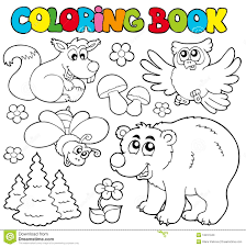 Royalty Free Stock Photo Download Coloring Book With Forest Animals