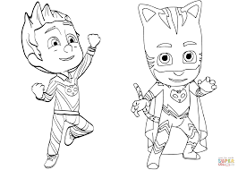 Click The Pajama Hero Connor Is Catboy From PJ Masks Coloring Pages