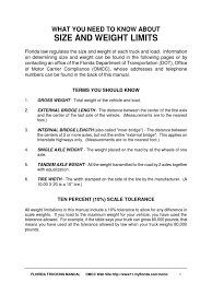 100 Truck Weights Reference For Wheel Load Semi Trailer