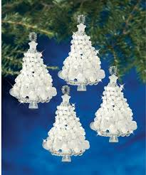Frosted Tree Twists Beaded Christmas Ornament Kit