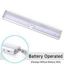 10pcs lot led light wireless motion sensor cabinet light bar