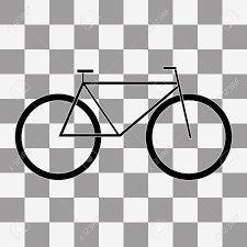 Bicycle Icon Vector On A Transparent Background Stock