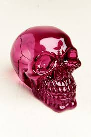 Earthbound Salt Stone Lamp by Small Magenta Resin Skull Earthbound Trading Co Earthbound