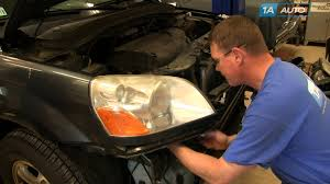 how to install replace change headlights and bulbs 2003 05 honda