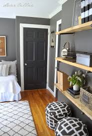 Similar Color Scheme In My Home Dark Gray Walls White Trim Love The Darker Near Black Doorsnow To Refinish Wood Floors
