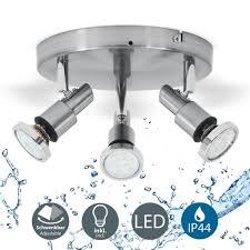 led deckenleuchte 3 flammig badezimmer leuchte deckenstrahler inkl 5w leuchtmittel 400 lumen ip44 b k licht