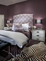 Contemporary Purple Bedroom With Zebra Print Rug Hgtv Dark Grey And