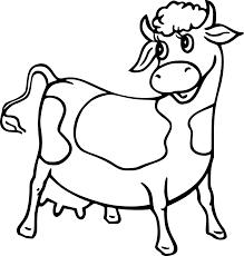 Coloriage Vache Et Dessin à Imprimer