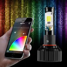 h4 2in1 led headlight bulbs color changing eye for