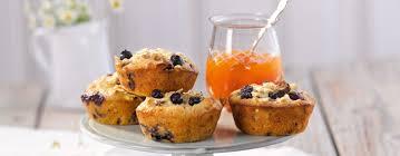 müsli muffins mit heidelbeeren