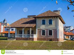 100 German House Design Newly Built Alpine In Village Stock Image Image Of