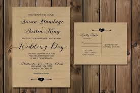Rustic Kraft Wedding Invitation Suite Minimalist Paper Calligraphy 27
