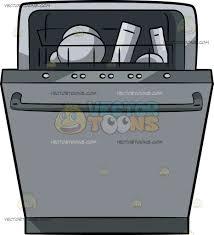 A Dishwasher Cartoon Clipart