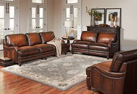 Living RoomCheap Rustic Room Sets Leather Sofa Pattern Gray Carpet Brown Rug White