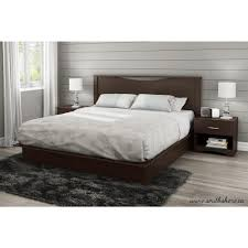 south shore step one king size headboard in chocolate 3159290