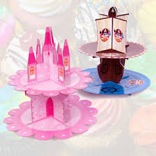 Image is loading Birthday Stand Cake Cupcake Party Table Fairy Pirate