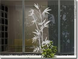 glas bambuszweige fensteraufkleber pflanzen