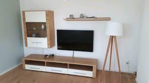 weko wohnwand lowbard hängeschrank inkl 2 x wandboard weiß matt