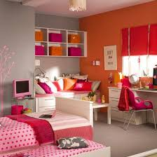 Pink And Orange Room For Teen