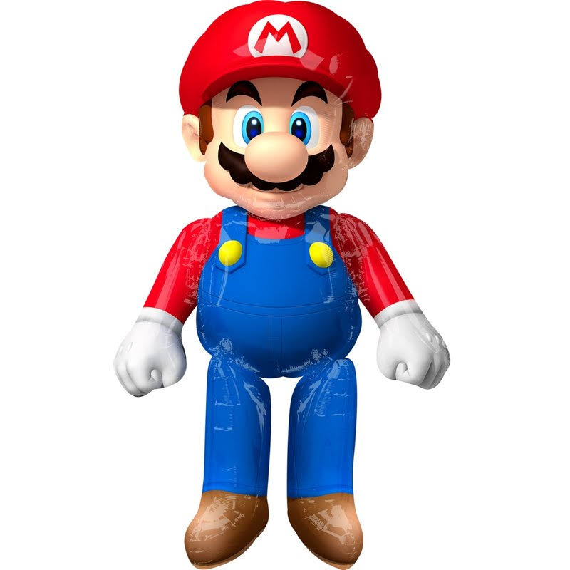 Mario Brothers Air Walker Foil Balloon