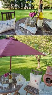 Patio Tablecloth With Umbrella Hole by Best 10 Rustic Outdoor Umbrella Accessories Ideas On Pinterest