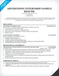 Counseling Internship Resume Examples With