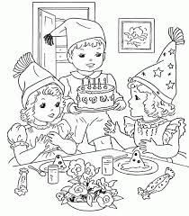 Large Size Of Coloring Pagesdecorative Party Pages Birthday Page 09 Magnificent