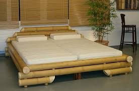 bamboo bed frame with 2 bed mattresses bamboo bed