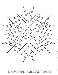 Snowflake Vector Coloring Page