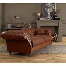 landhausstil sofa jacksonville mit knopfheftung chesterfield 3 sitzer