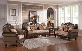 Zoya Traditional Sofa in Brown & Cherry w Options